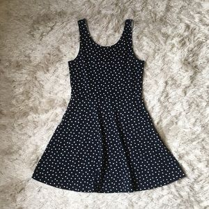 H&M Polka Dot Skater Dress, Size 10